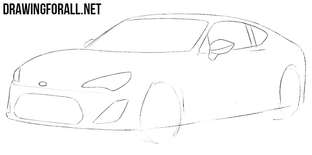 how to sketch out a cool car step by step