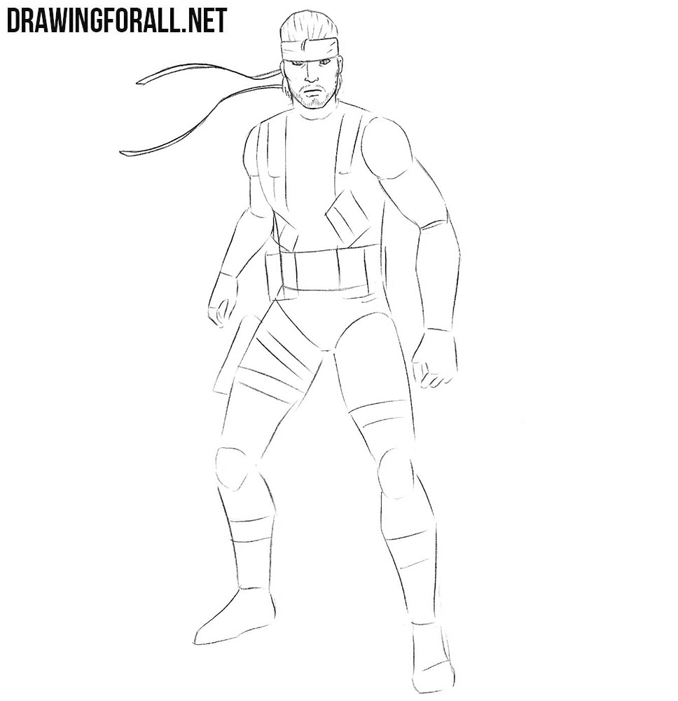 learn how to draw Solid Snake step by step