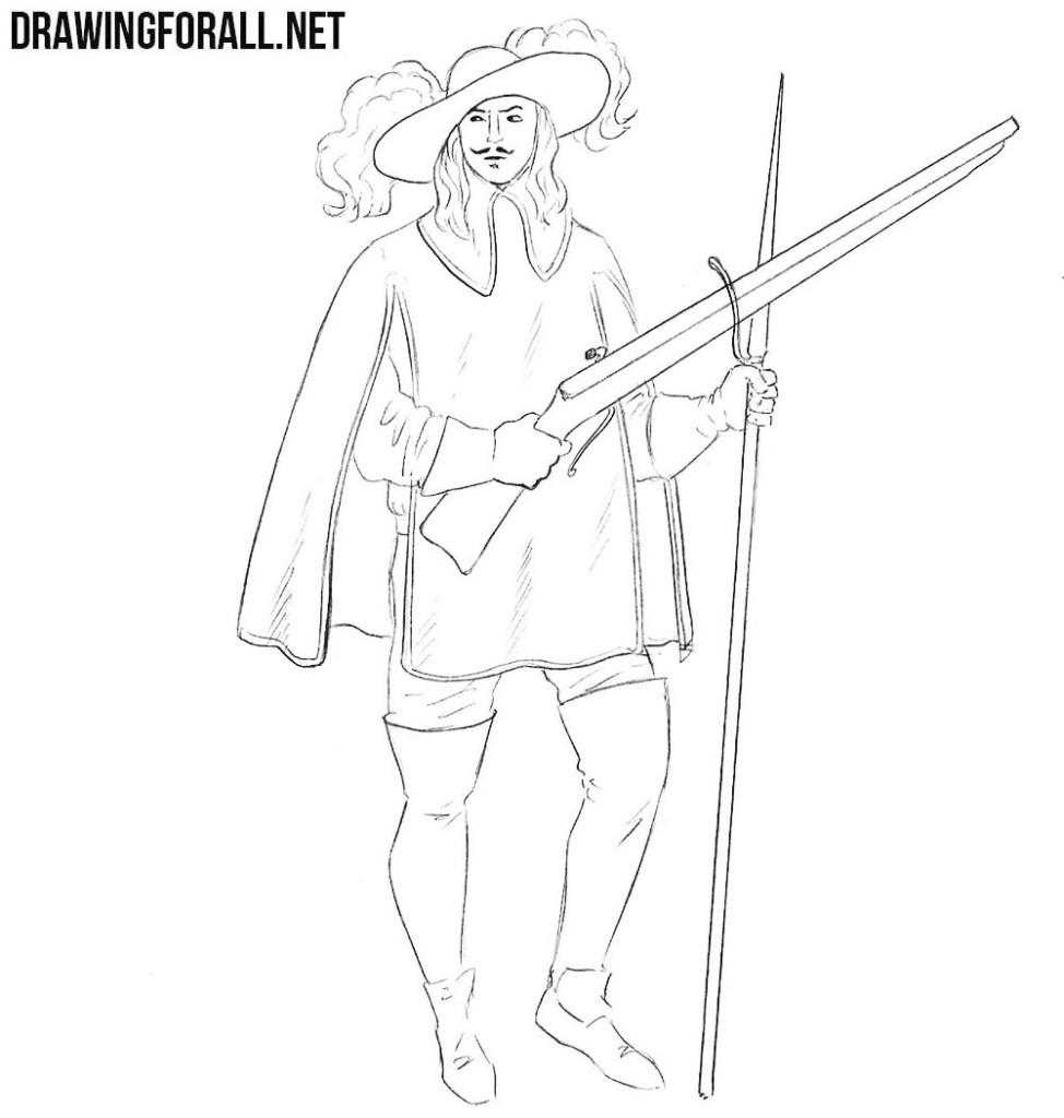 musketeer drawing