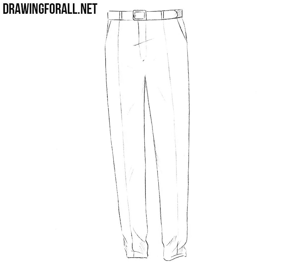 pants drawing