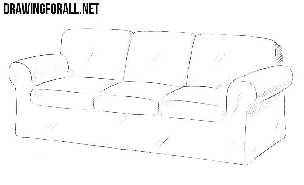 Tremendous How To Draw A Couch Drawingforall Net Creativecarmelina Interior Chair Design Creativecarmelinacom