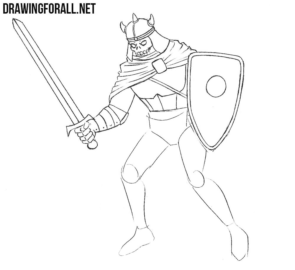 How to Draw a Death Knight from dnd