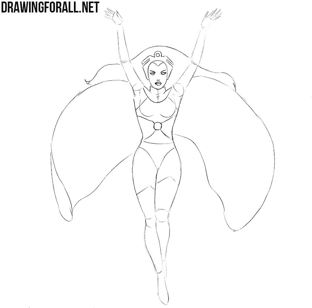 How to draw Storm step by step