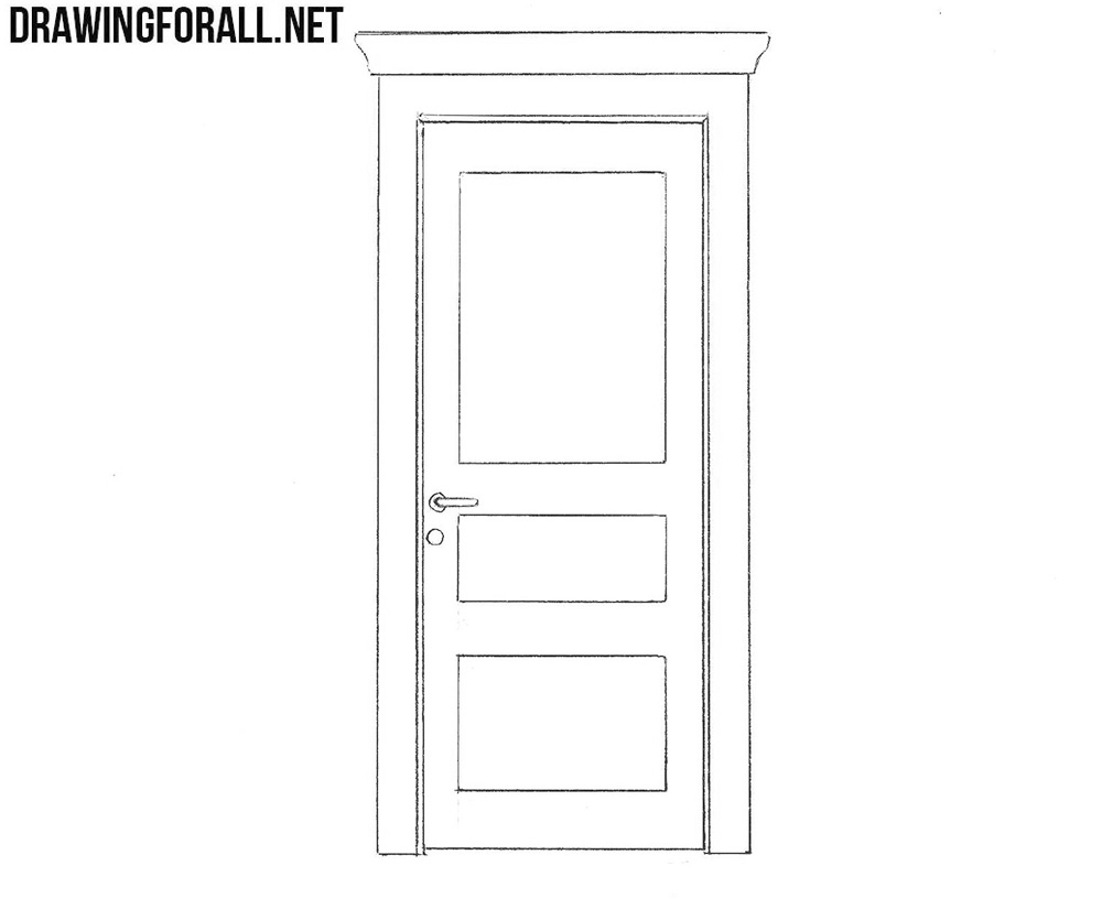 Line Drawing Door : How to draw a door drawingforall
