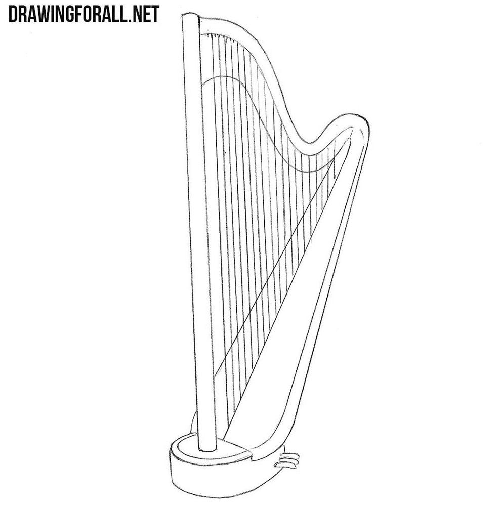 harp drawing