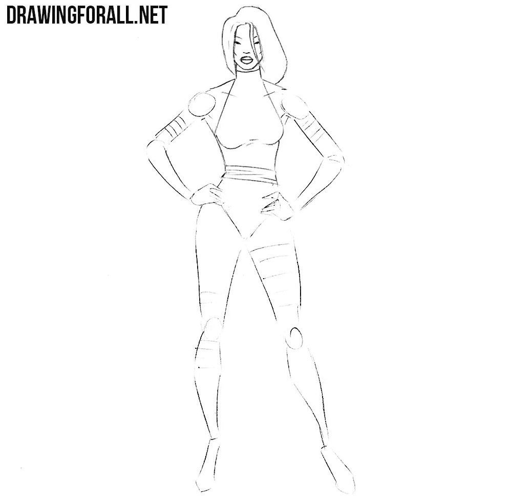 how to draw Psylocke from marvel