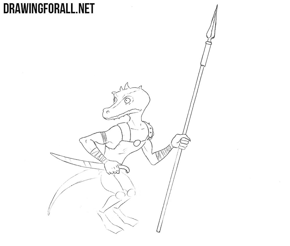 how to draw a Kobold from D n D