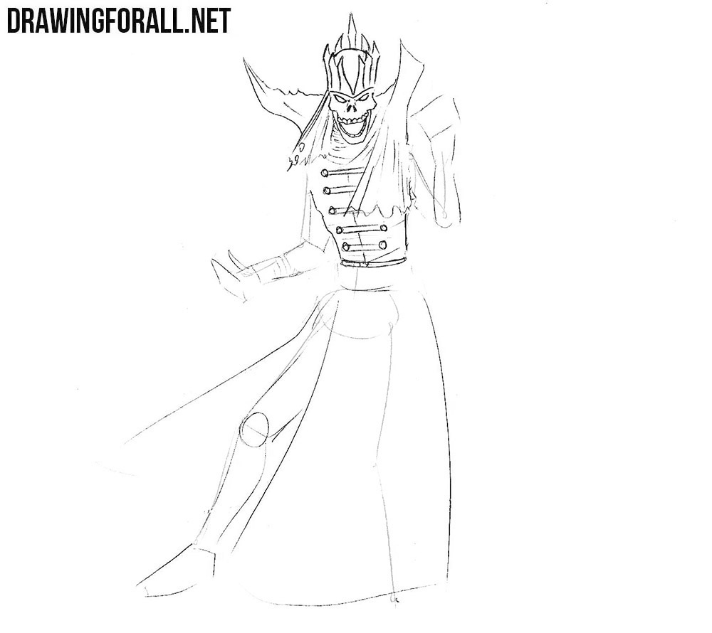 how to draw a lich easy