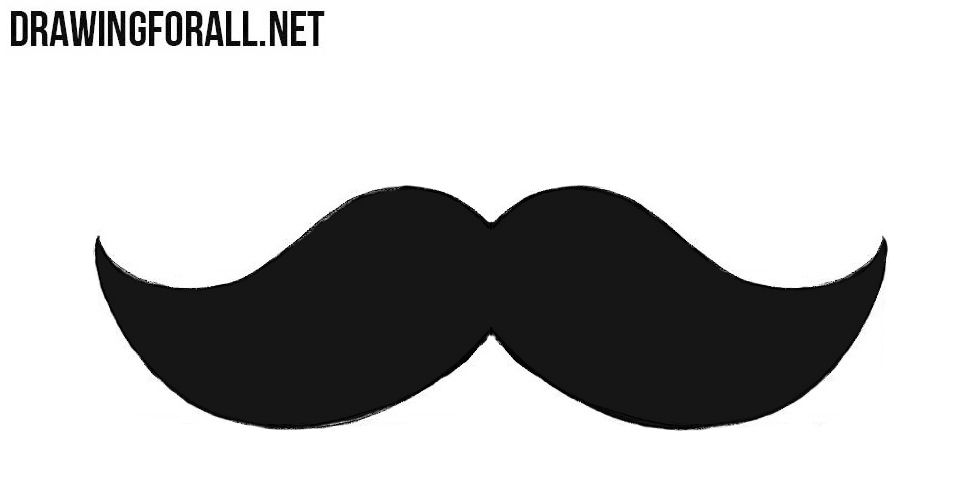 how to draw a mustache for beginners