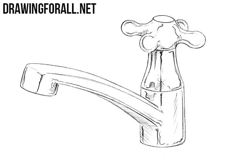 how to draw a tap