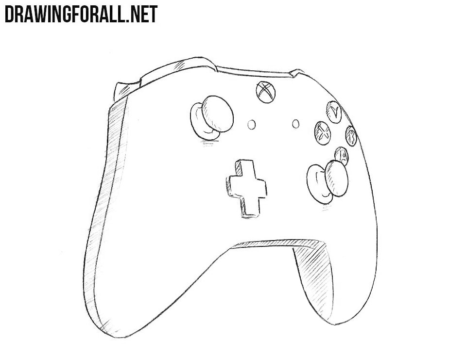 Contour Line Drawing Xbox One : How to draw an xbox controller drawingforall