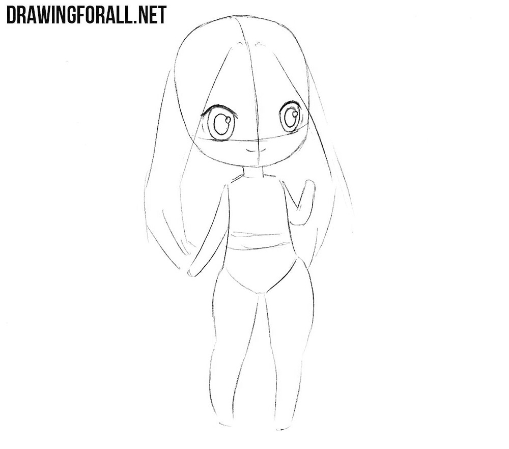how to draw chibi characters step