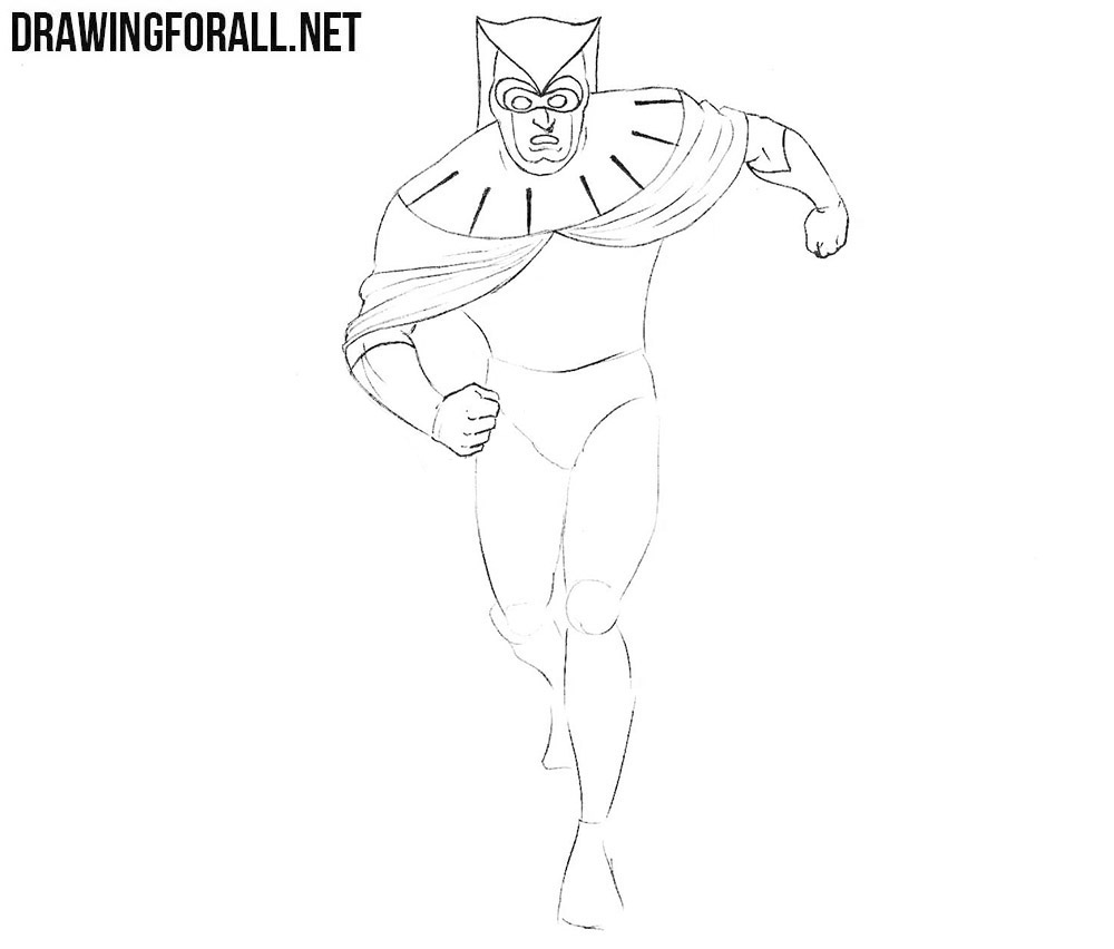 how to draw nite owl from Watchmen