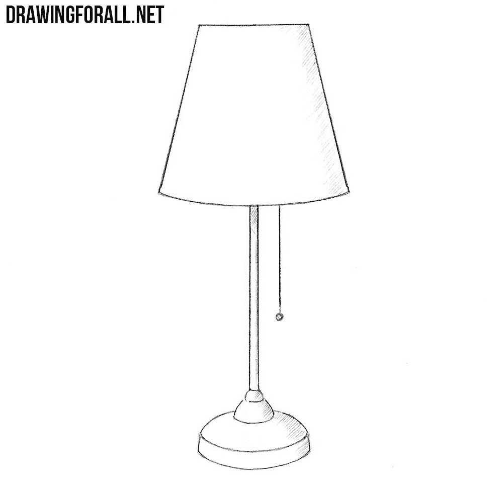 how to draw a lamp drawingforall net