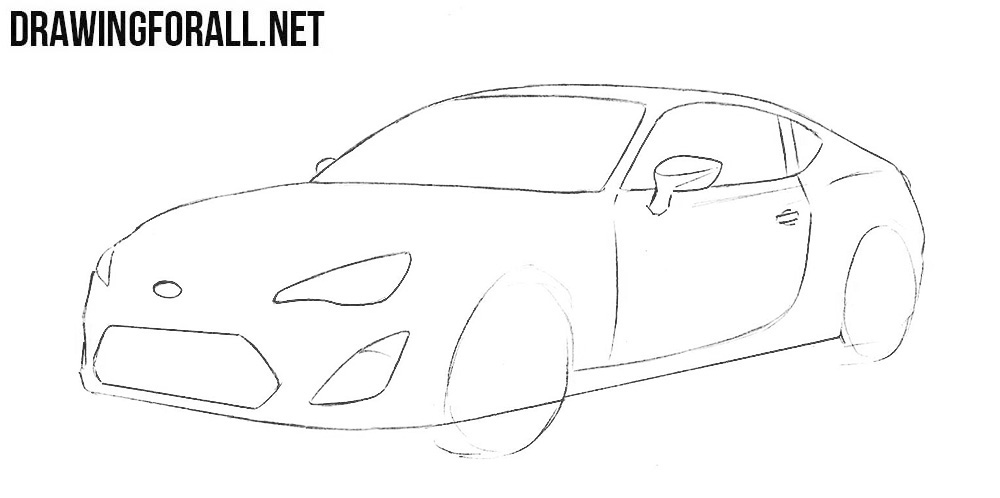 learn how to draw a subaru brz step by step