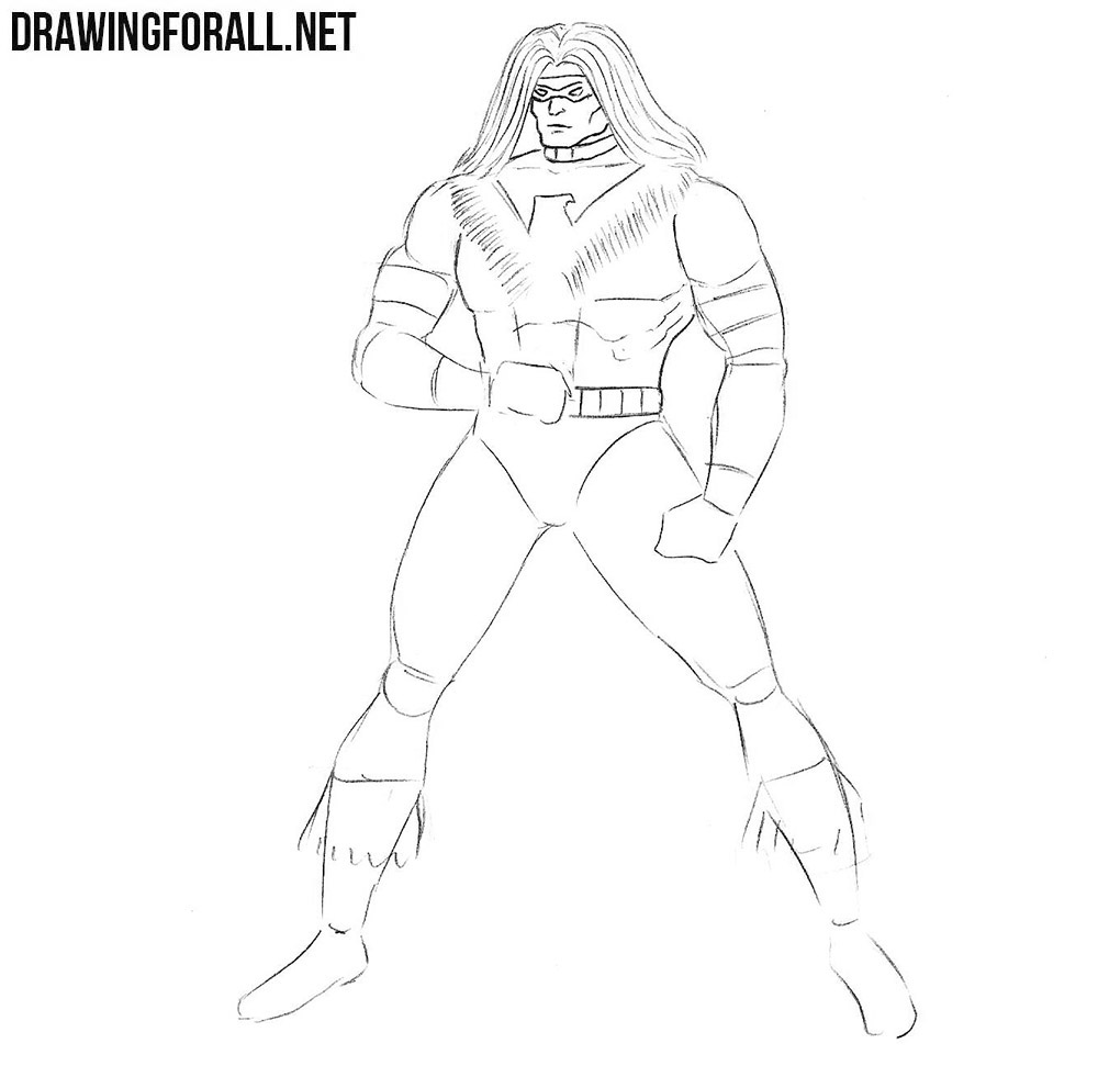 learn to draw Warpath step by step