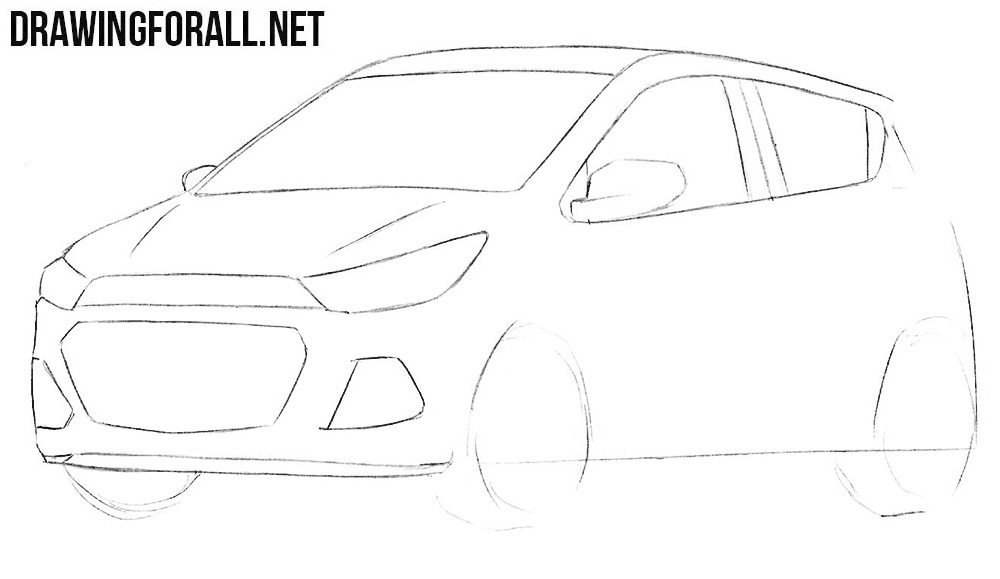 learn to draw a chevrolet spark