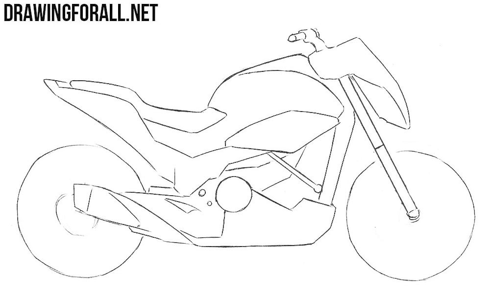 learn to draw a motorcycle step by step