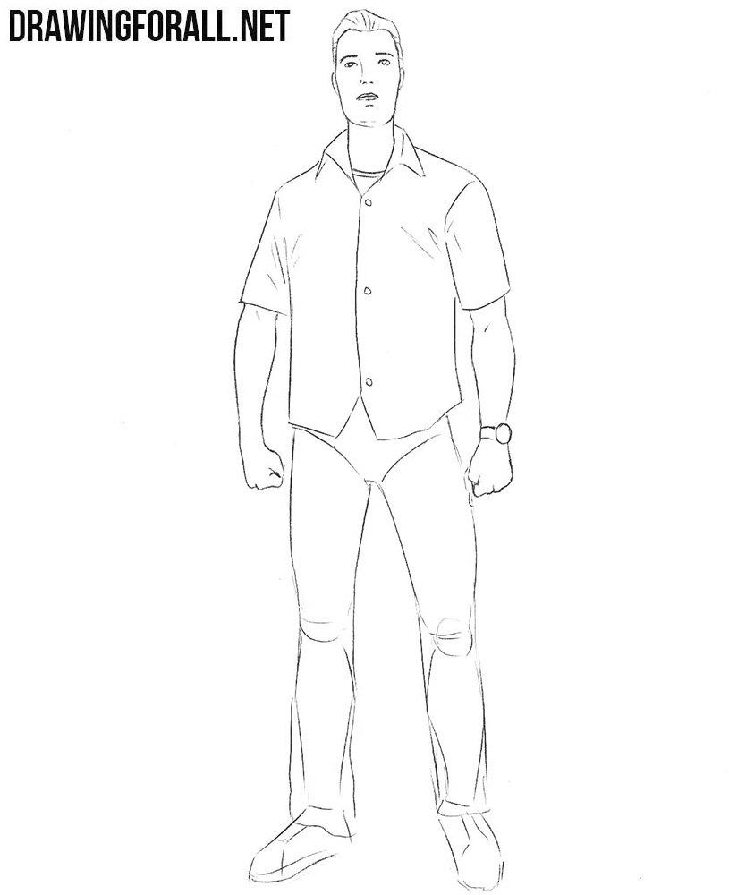 learn to draw how to draw tommy vercetti step by step