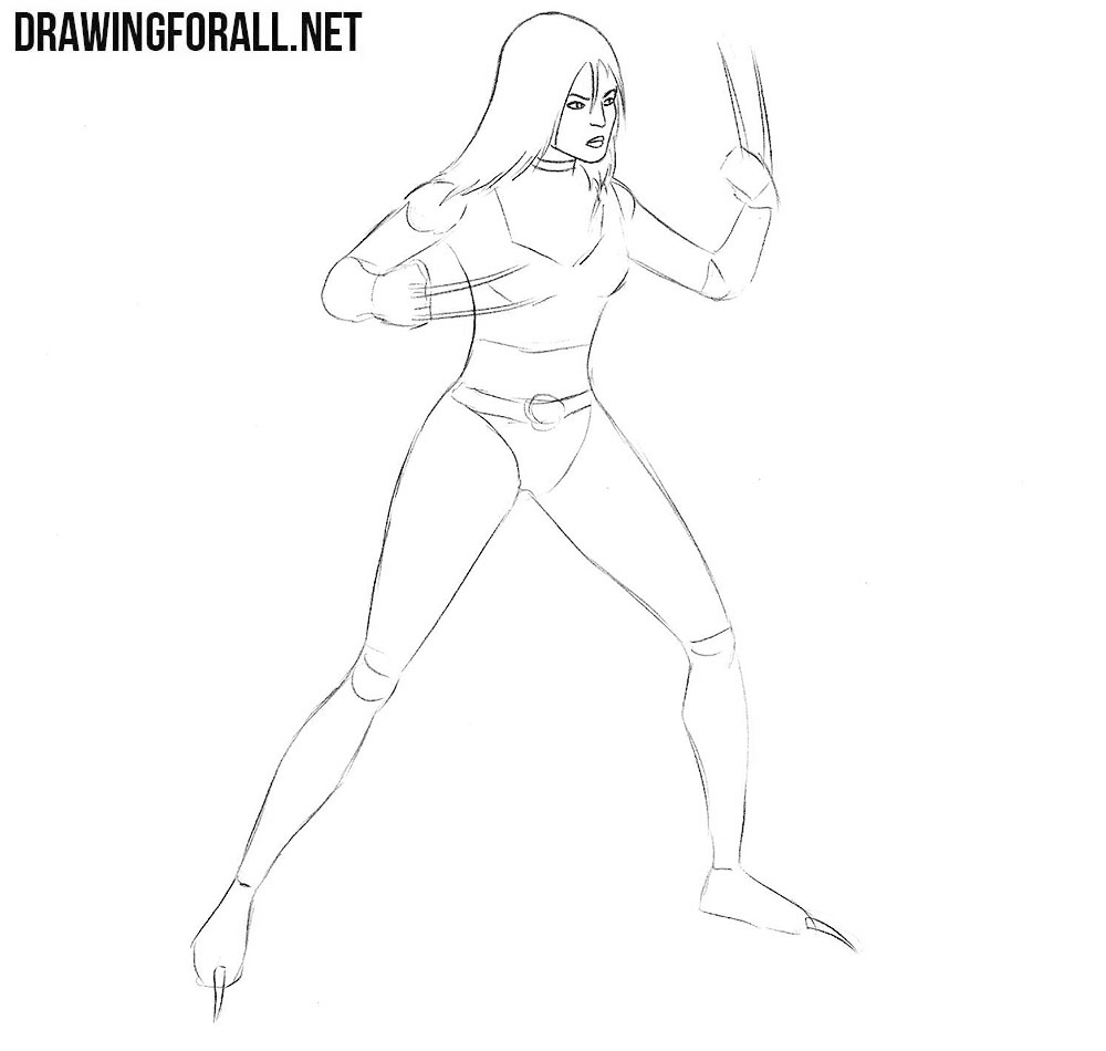 learn tp draw Laura Kinney x 23