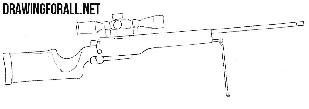 sniper rifle drawing
