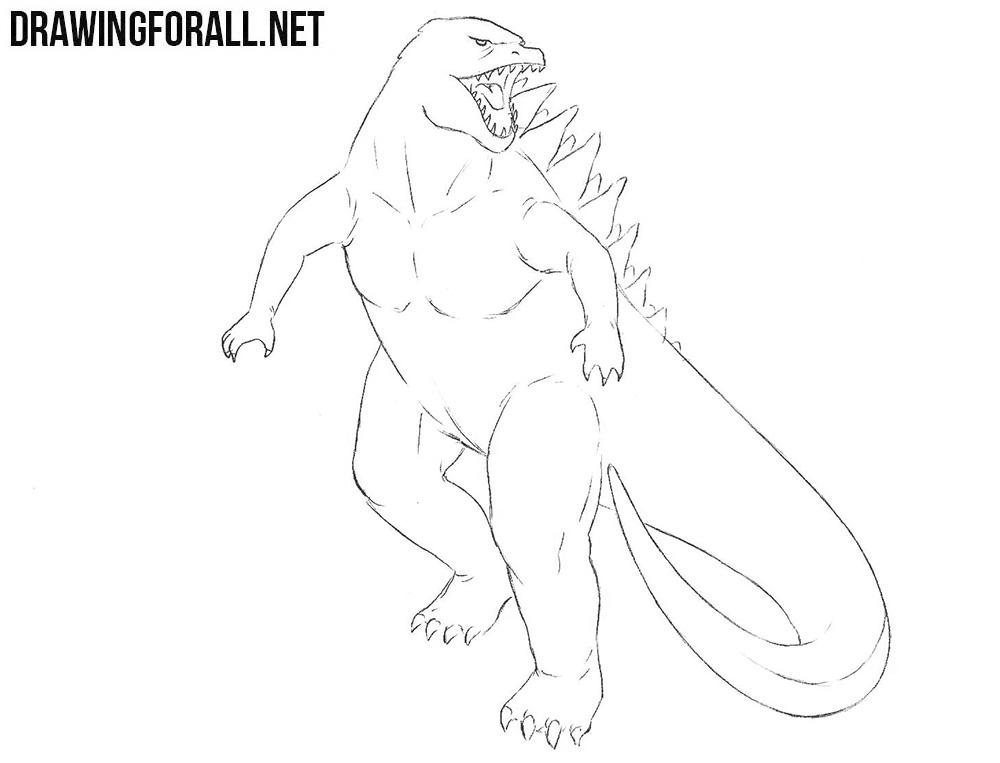 Godzilla drawing