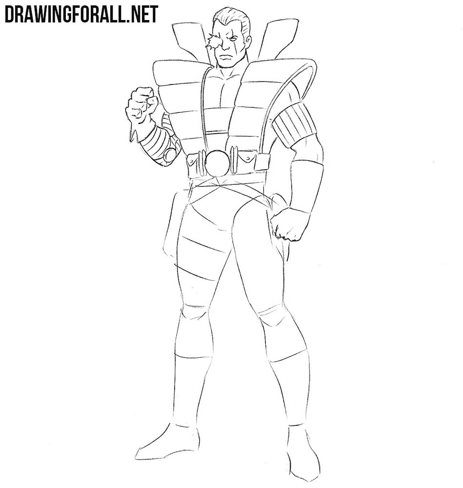 How to draw Cable from comics