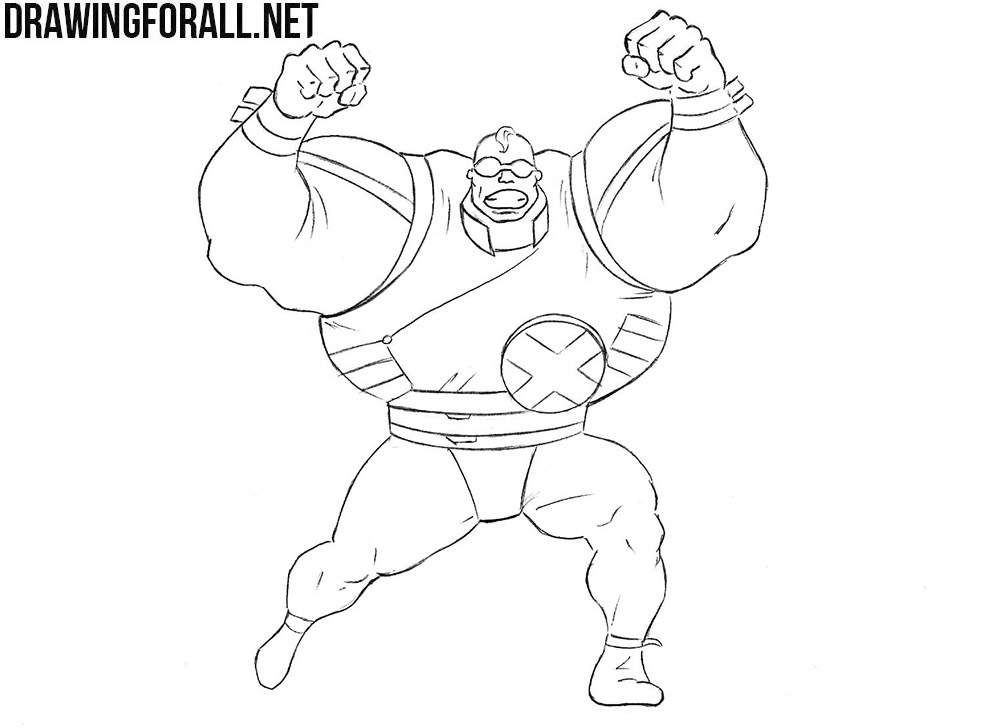 How to draw Strong Guy