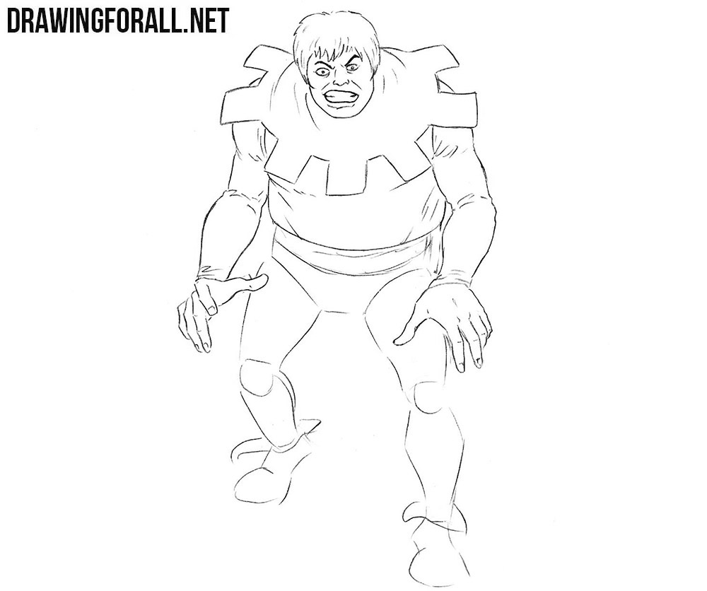 How to draw Toad from Marvel comics