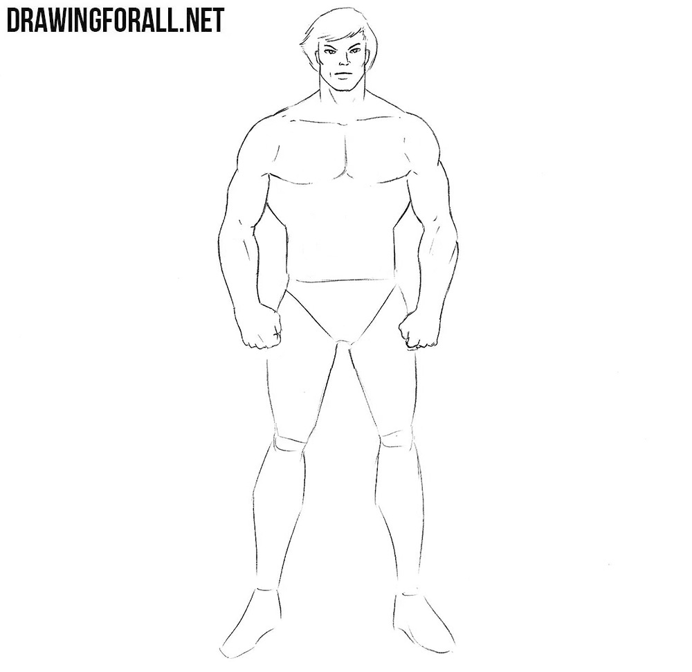 How to draw a man hero