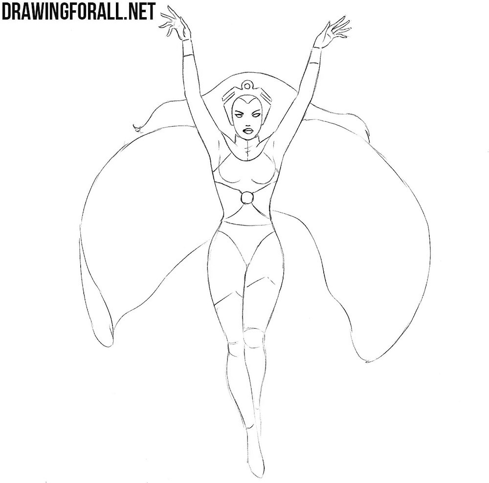 How to draw a woman superhero