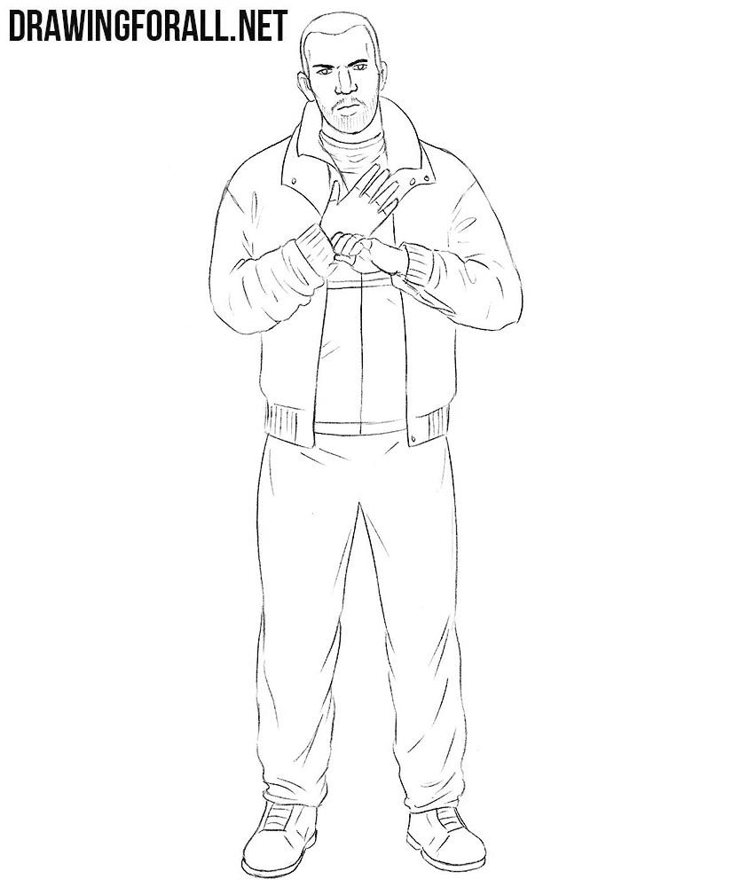 How To Draw Niko Bellic Drawingforall Net