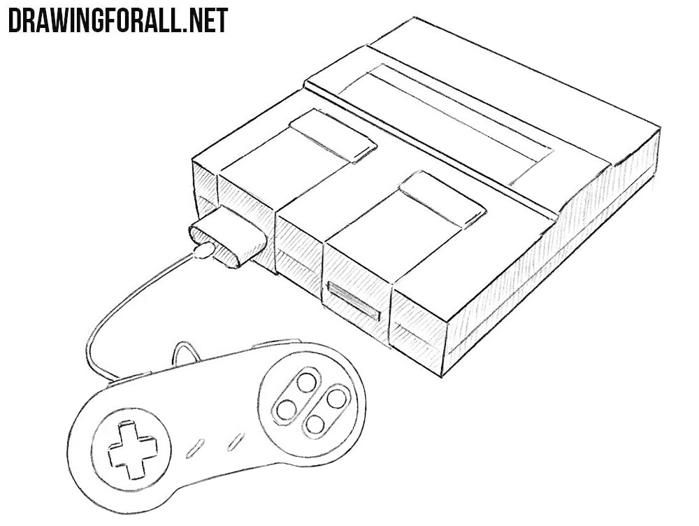 Drawing Smooth Lines Xbox One : How to draw a super nintendo drawingforall