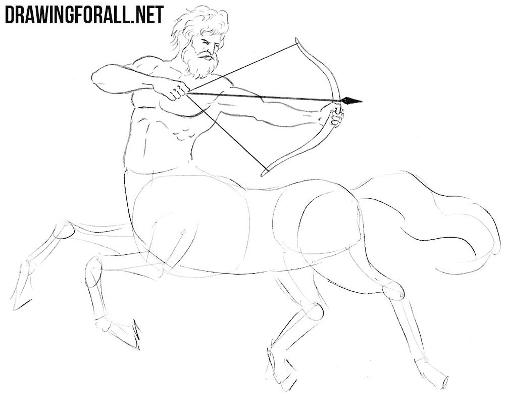 centaur drawing tutorial