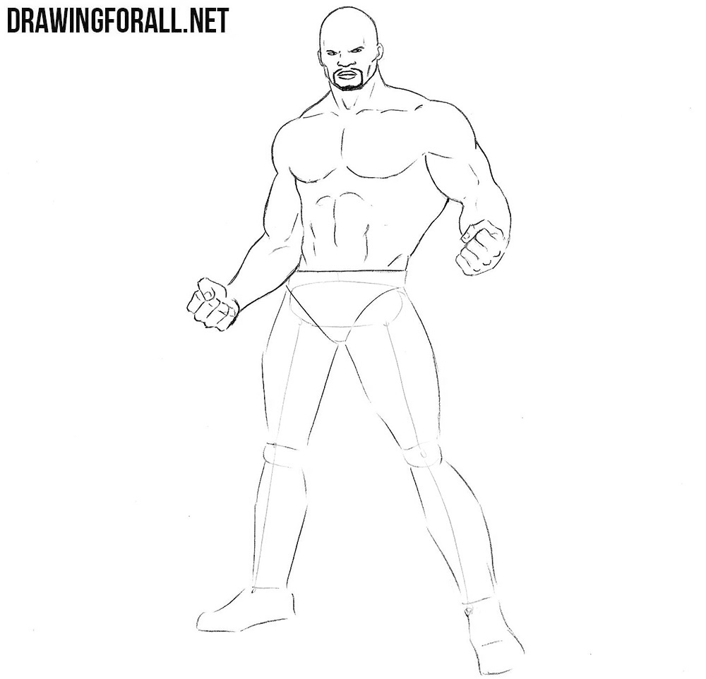 how to draw Luke Cage from marvel universe