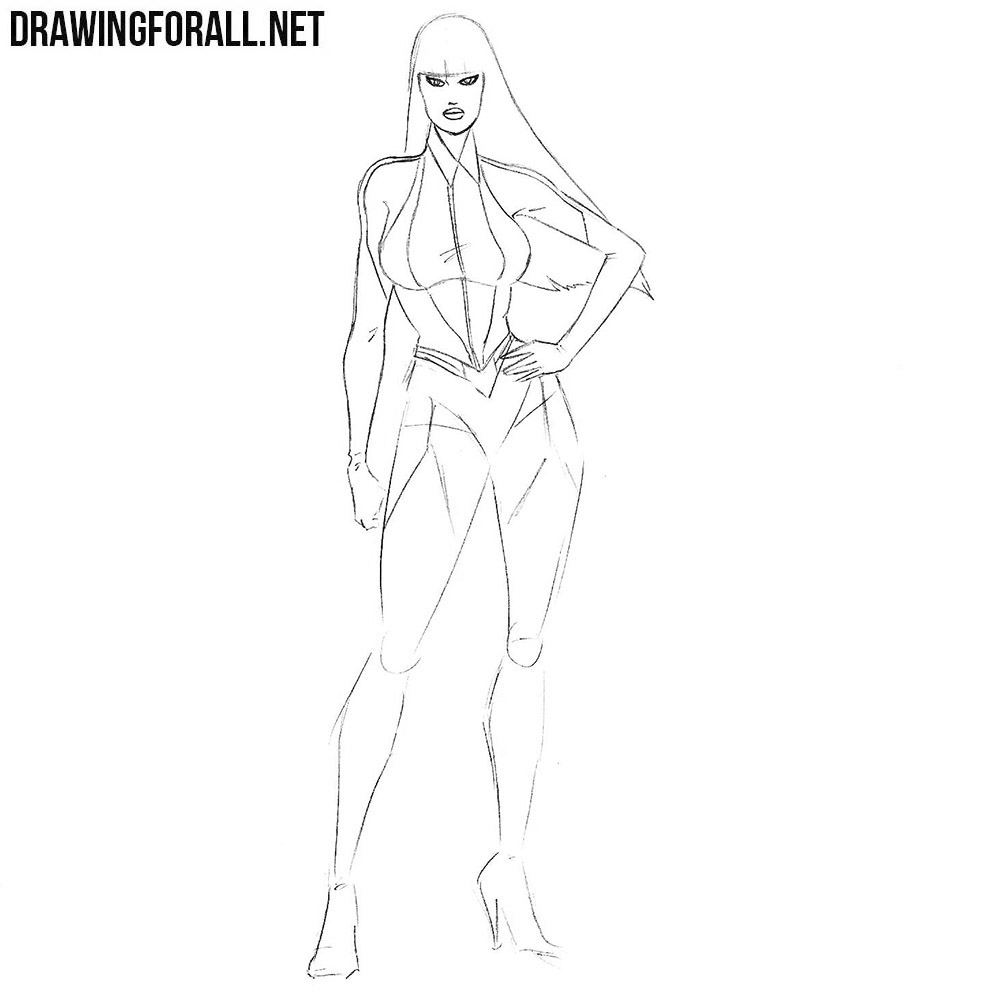 how to draw Silk Spectre from comics