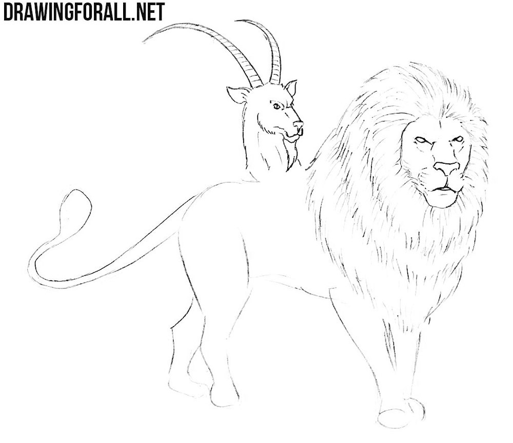 how to draw a chimera from mythology