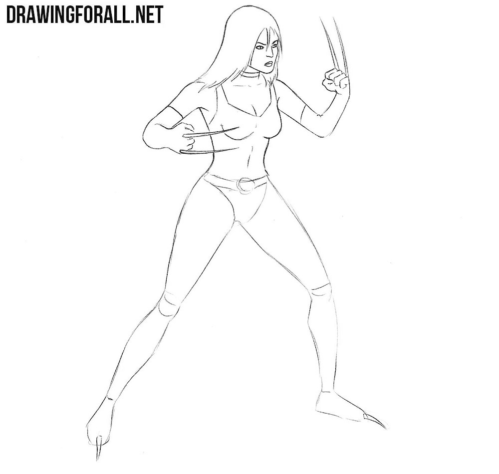 how to draw x 23 from marvel