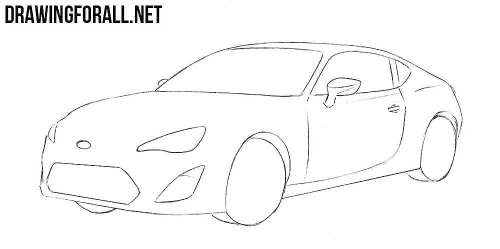 how to sketch a subaru brz