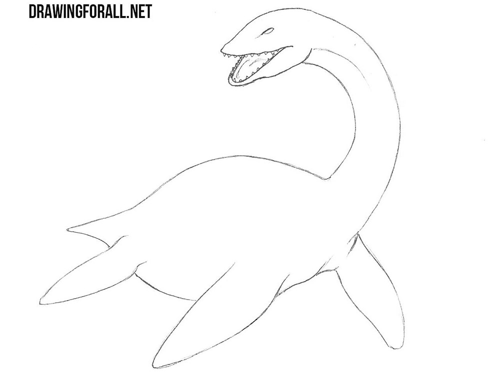 loch ness monster drawing