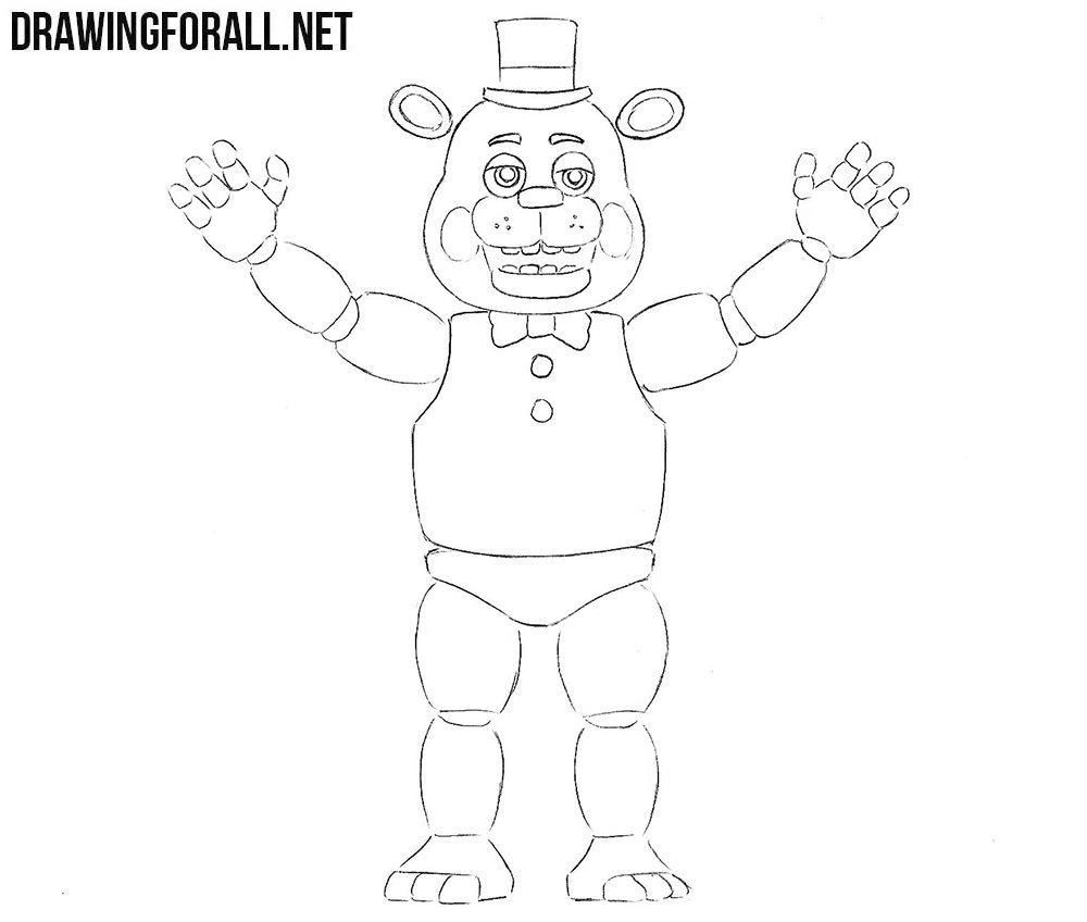 Freddy Fazbear drawing