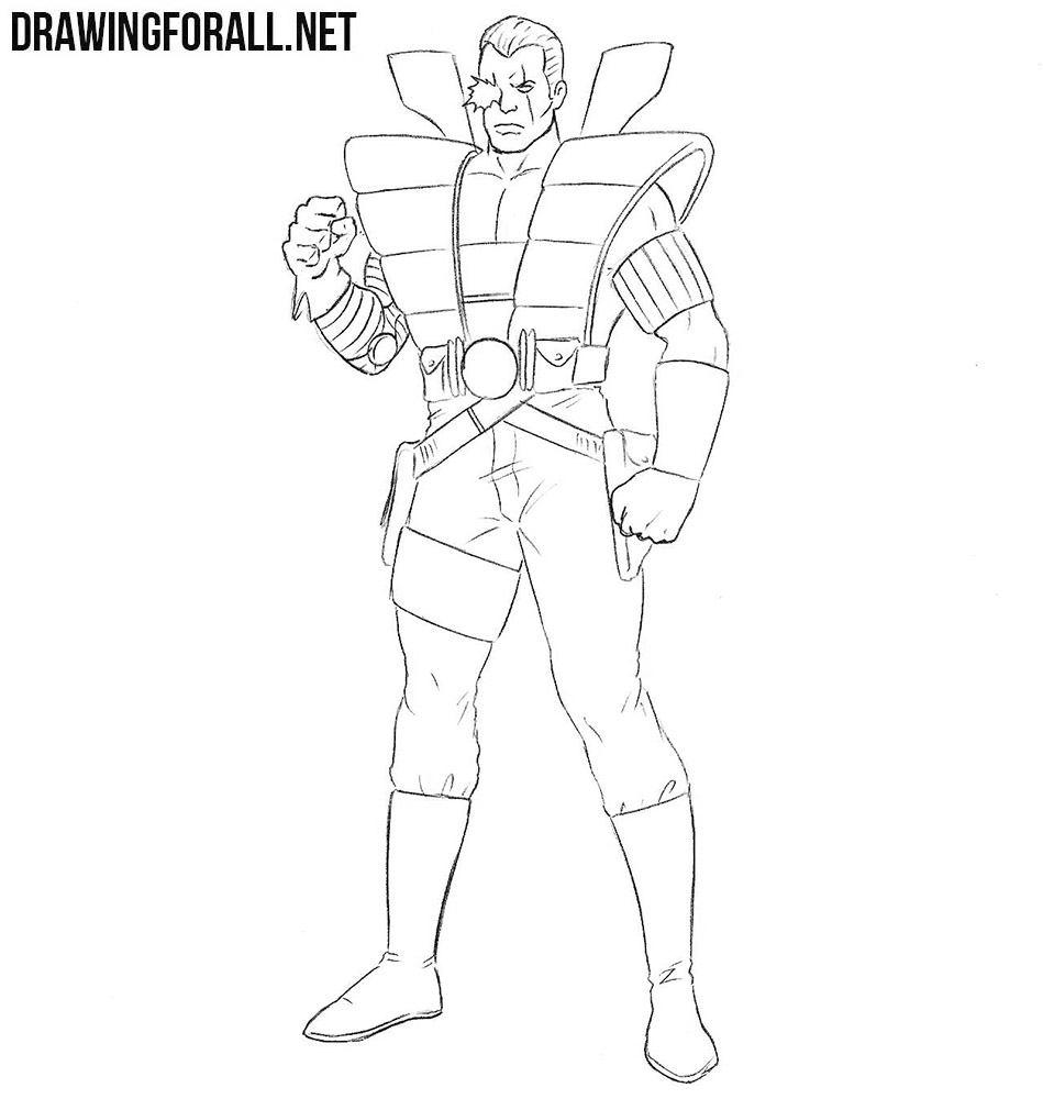 How to draw Cable from X Men