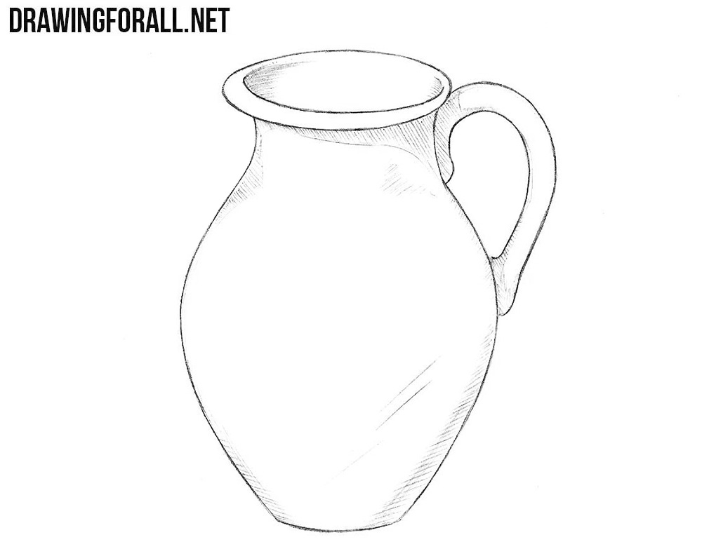 Line Drawing Jug : How to draw a jug drawingforall