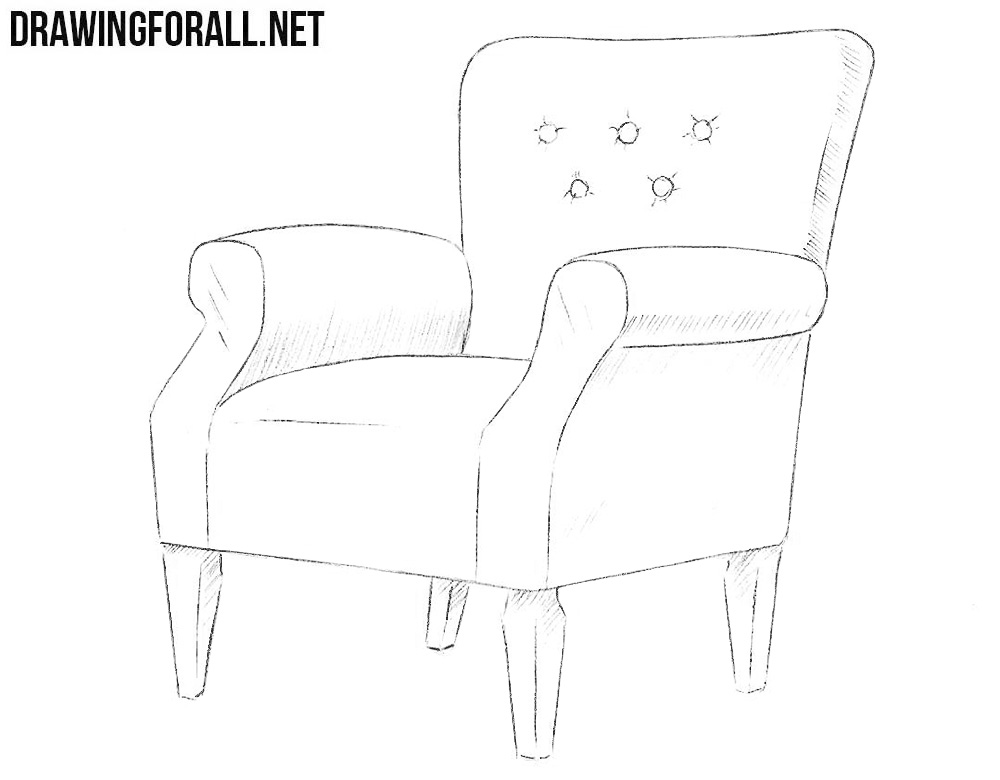 How To Draw An Armchair Drawingforall Net