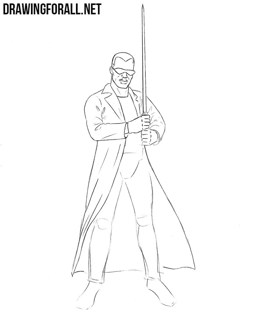 how to draw Blade from marvel