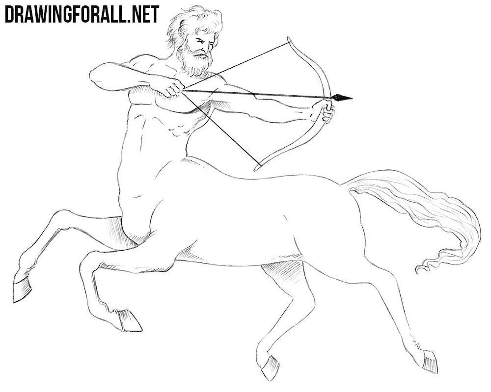 how to draw a centaur