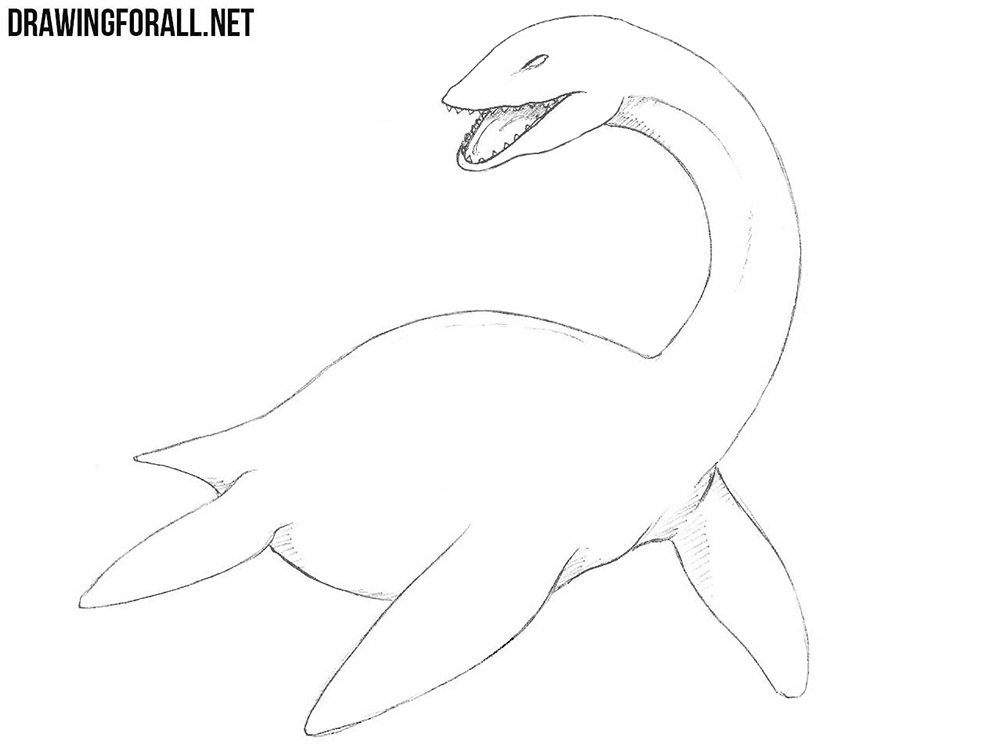 how to draw a loch ness monster