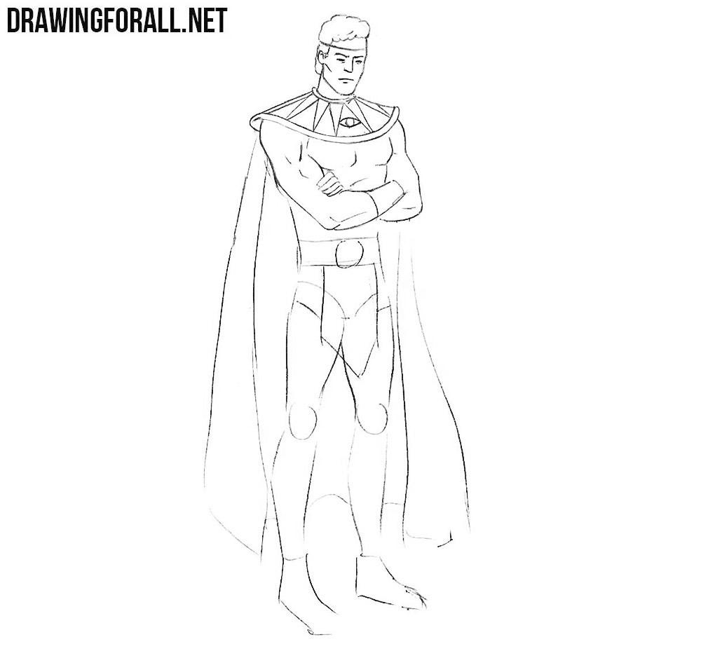 how to draw watchmen