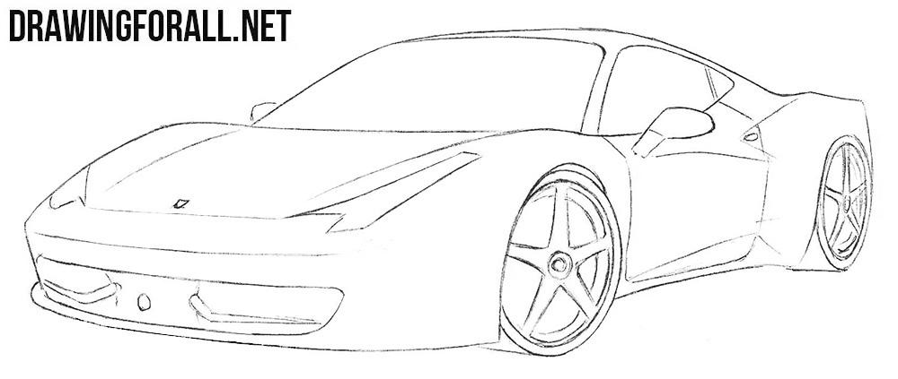 Ferrari 458 Italia drawing