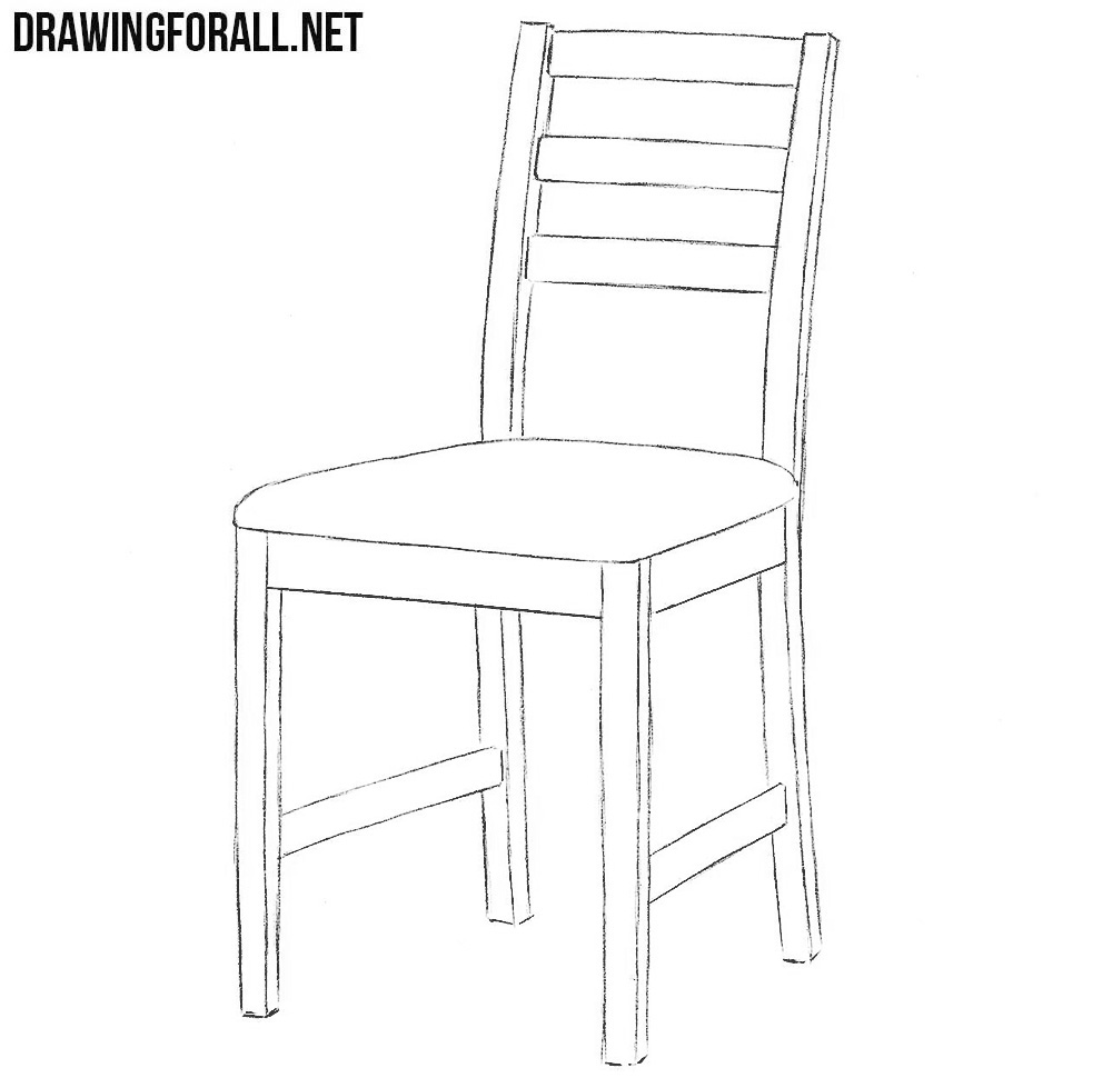 Line Drawing Chair : How to draw a chair drawingforall